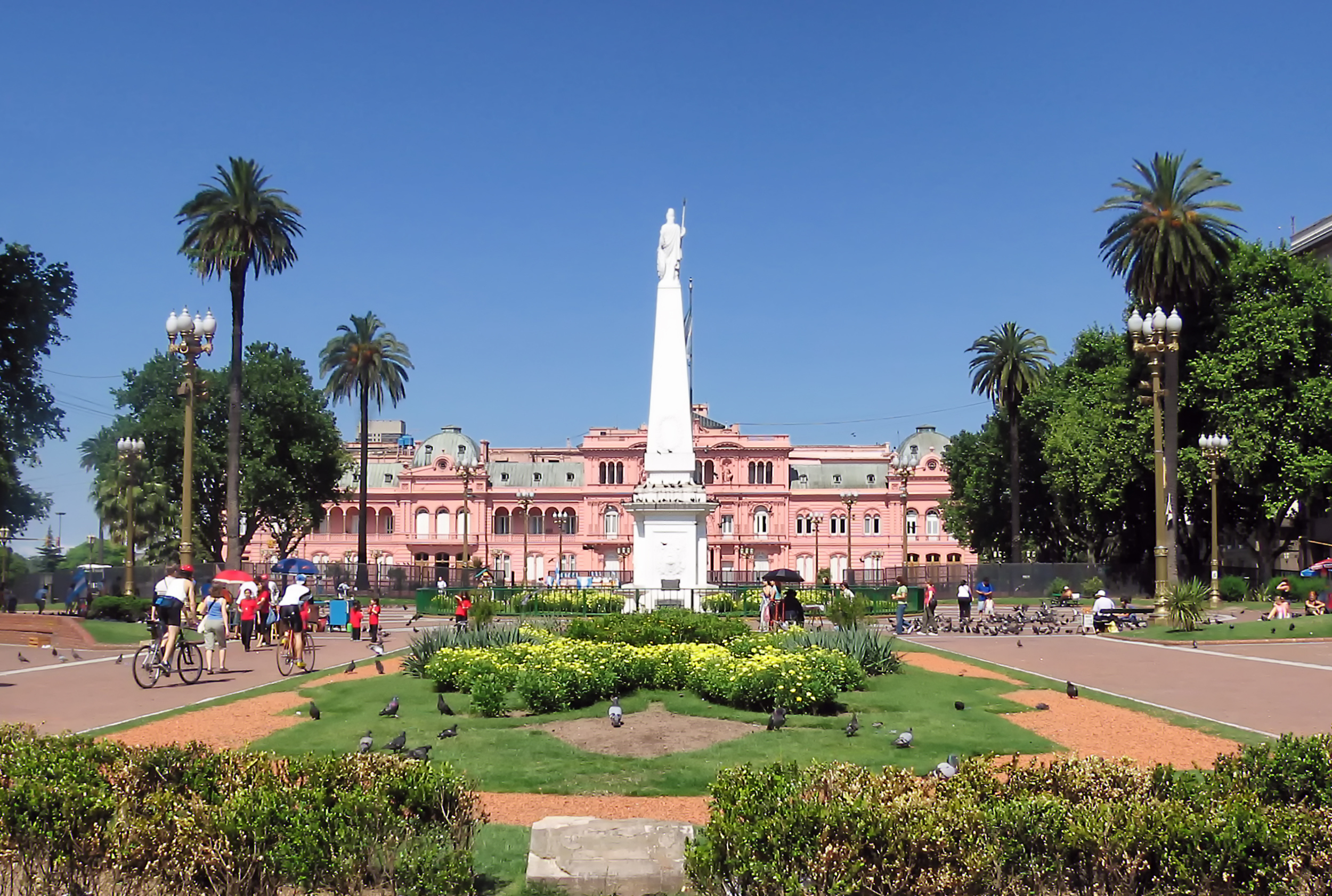 View of Buenos Aires Pink House, Argentina's president office