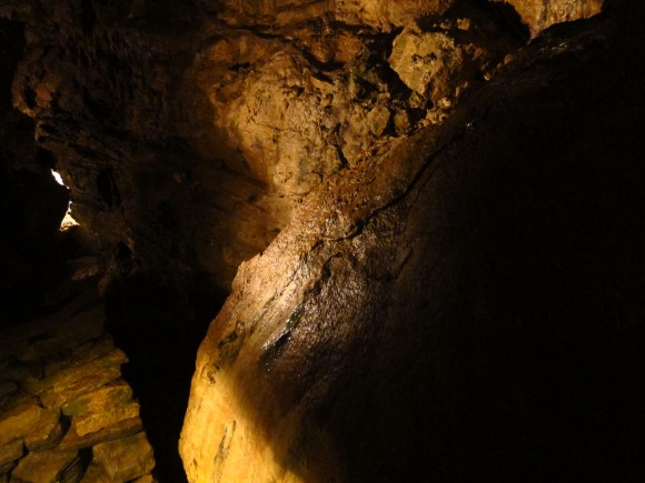 Interior das Howe Caverns