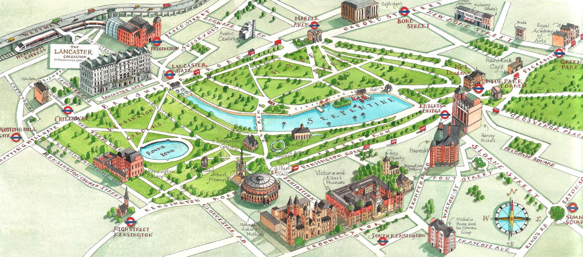 Mapa do Hyde Park, em Londres