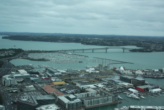 Auckland vista da Sky Tower