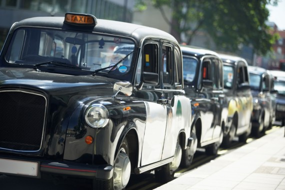 Os black cabs de Londres