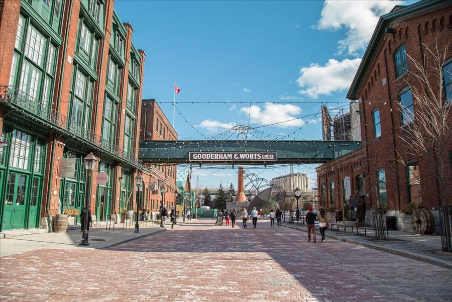 Intercambio em Toronto e distillery district