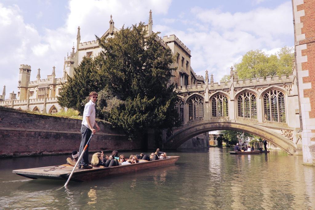 Punting em Cambridge