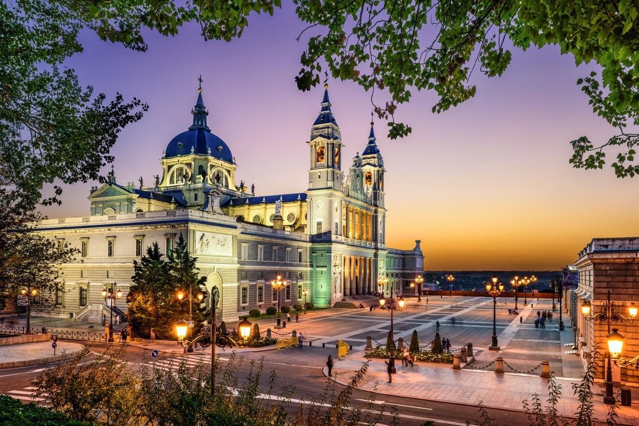 vista de Madrid ao entardecer